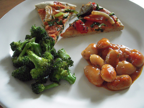 Kashi Pizza, Roasted Trees & Greek Giant Beans